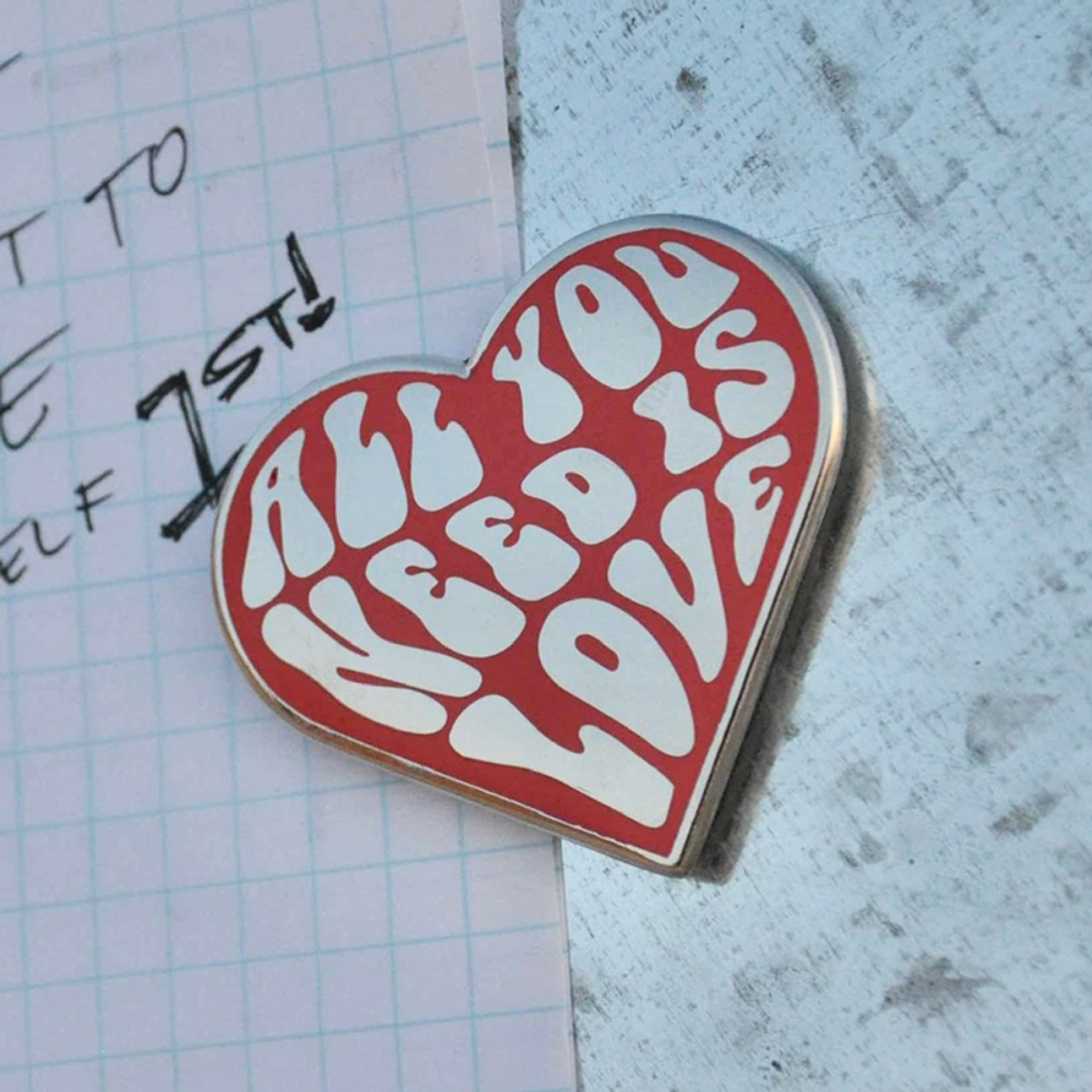 All You Need Is Love Enamel Magnet