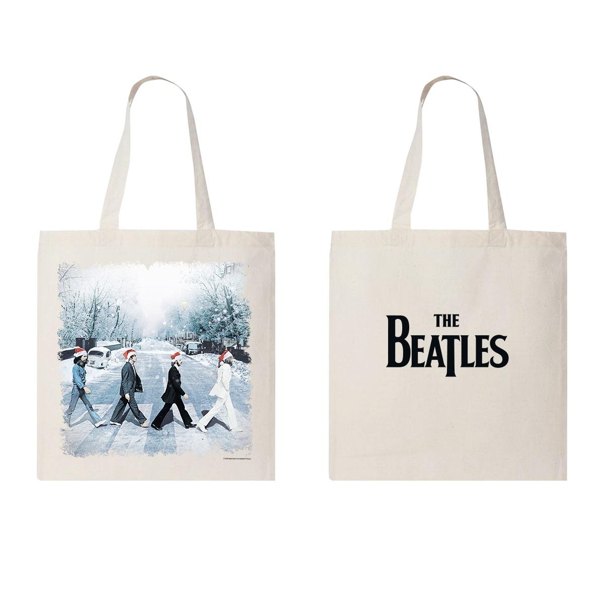 Snowy Abbey Road Tote Bag