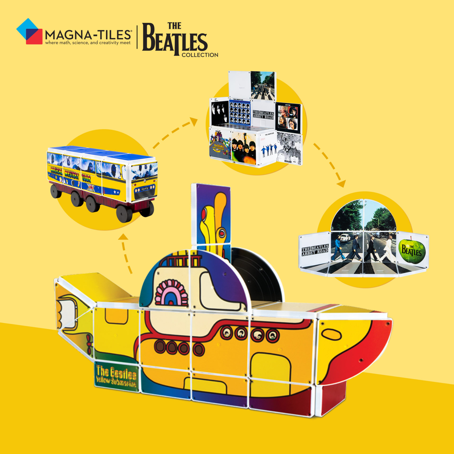 The Beatles Collection Magna-Tiles Set