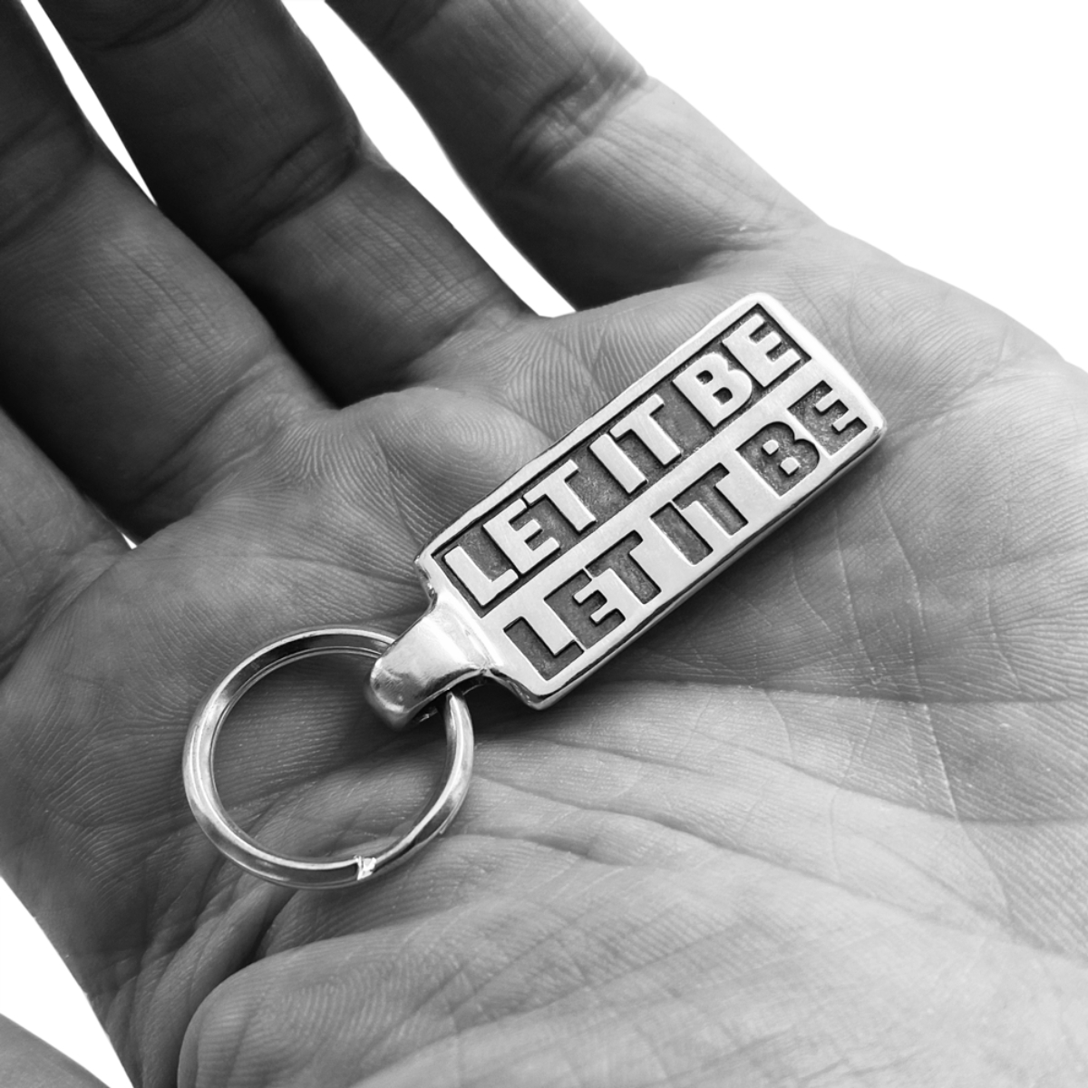 Let It Be Sterling Silver Keychain & Pin Set