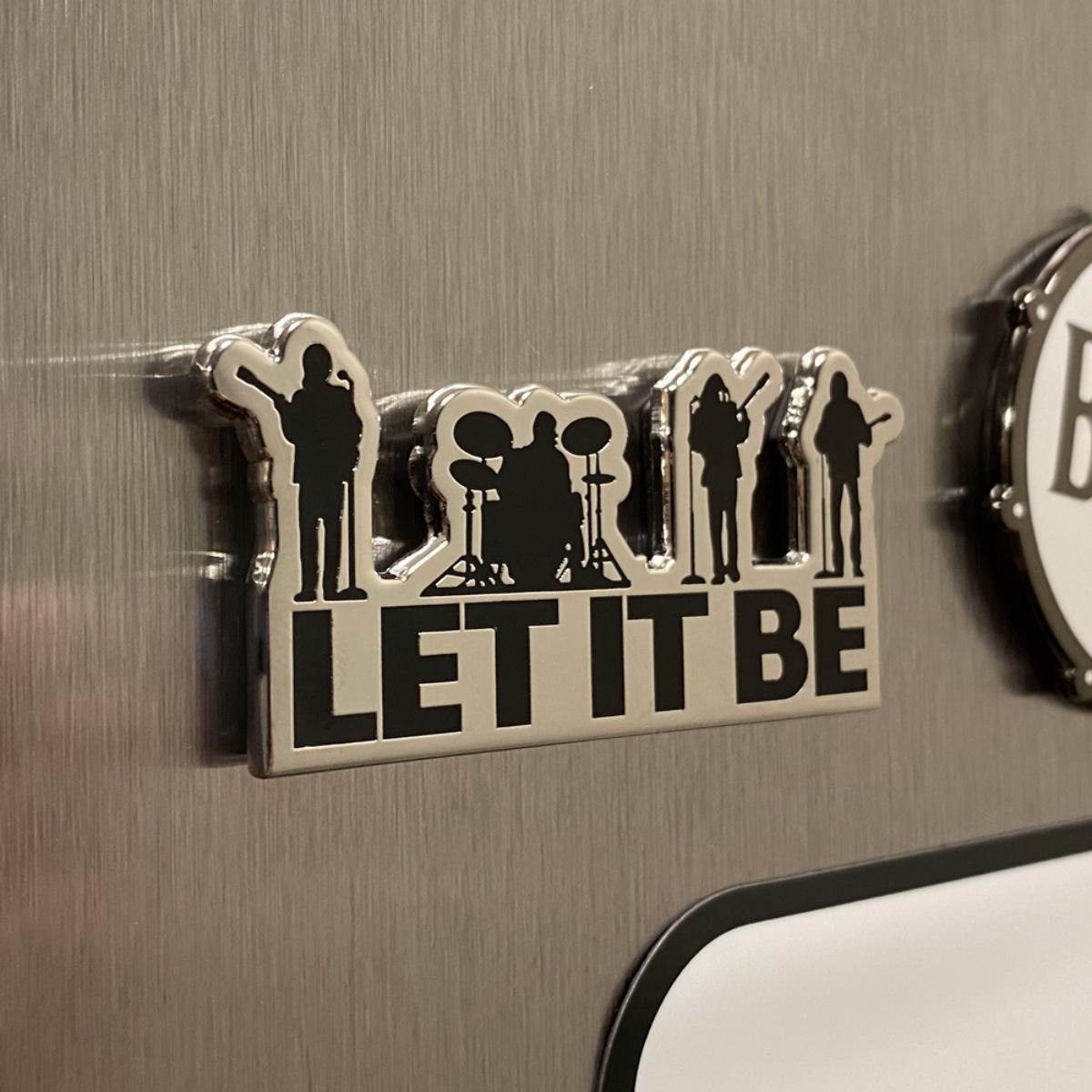 Let It Be Enamel Magnet