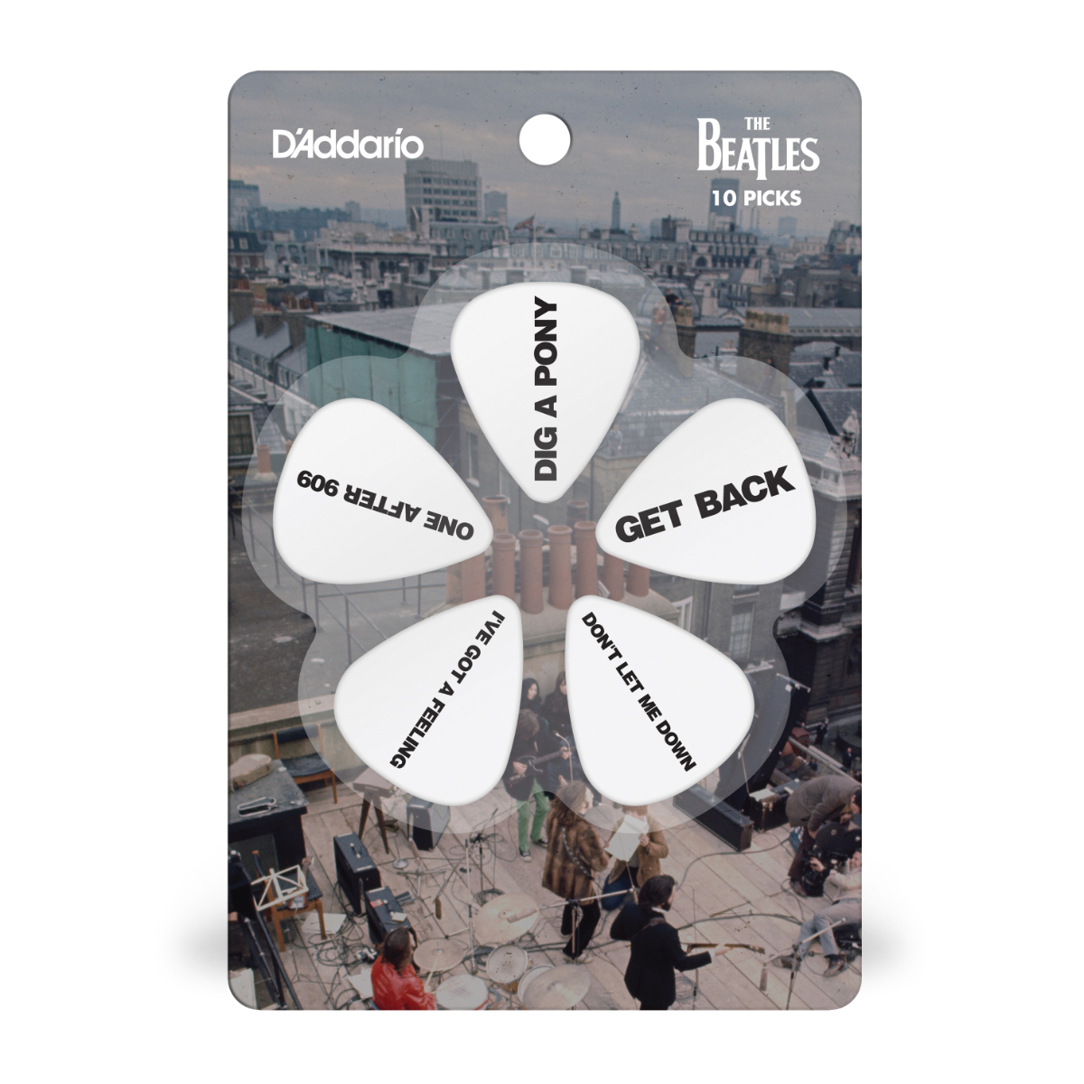 Get Back Set List D'Addario Guitar Pick Pack (Medium)