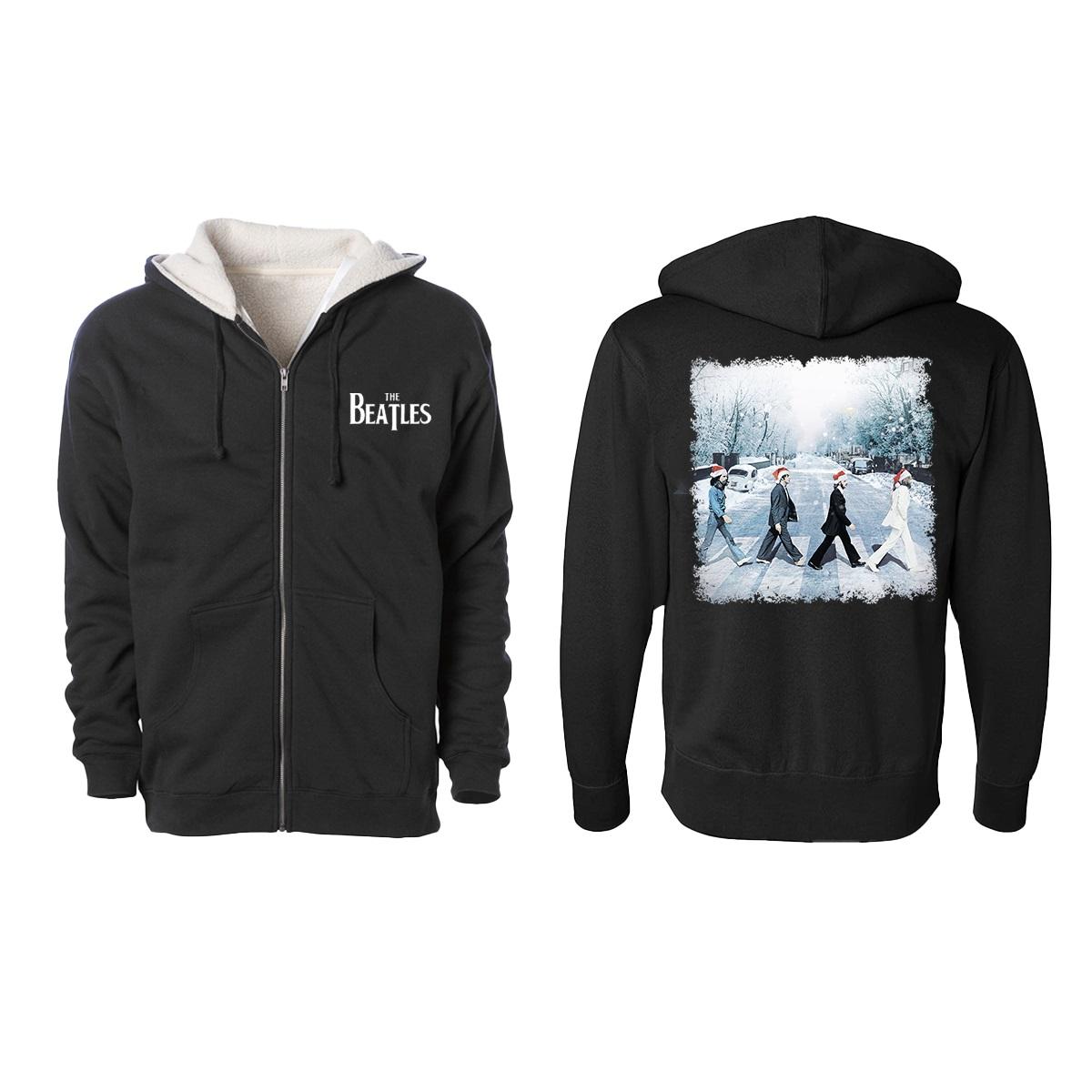 Snowy Abbey Road Sherpa Zip Hoodie