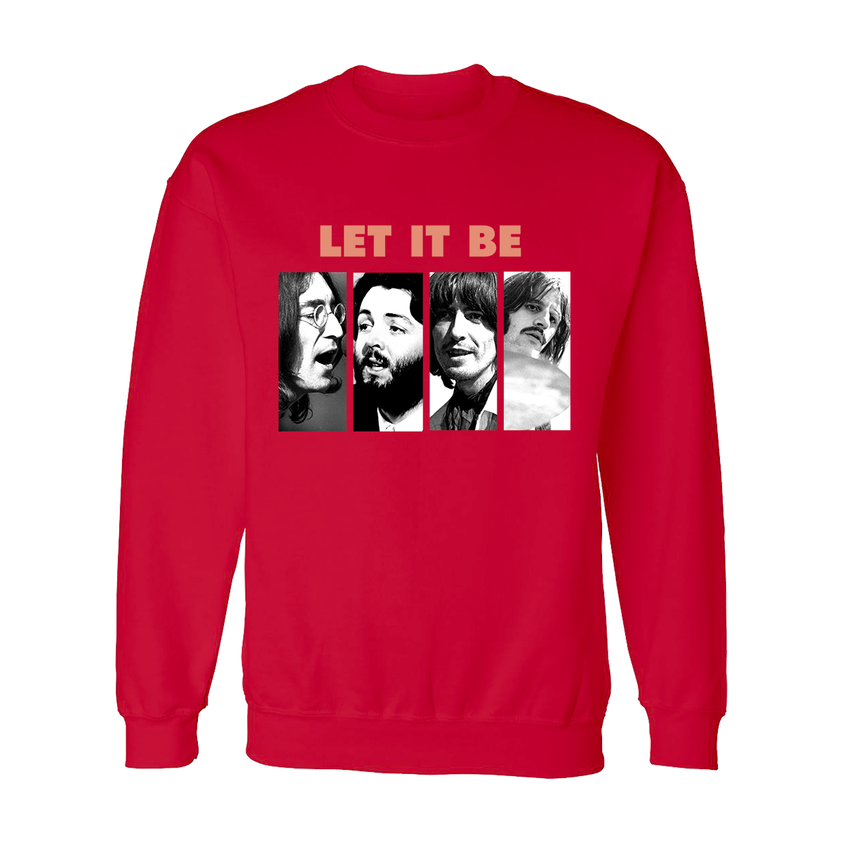 Let It Be Photo Red Crewneck