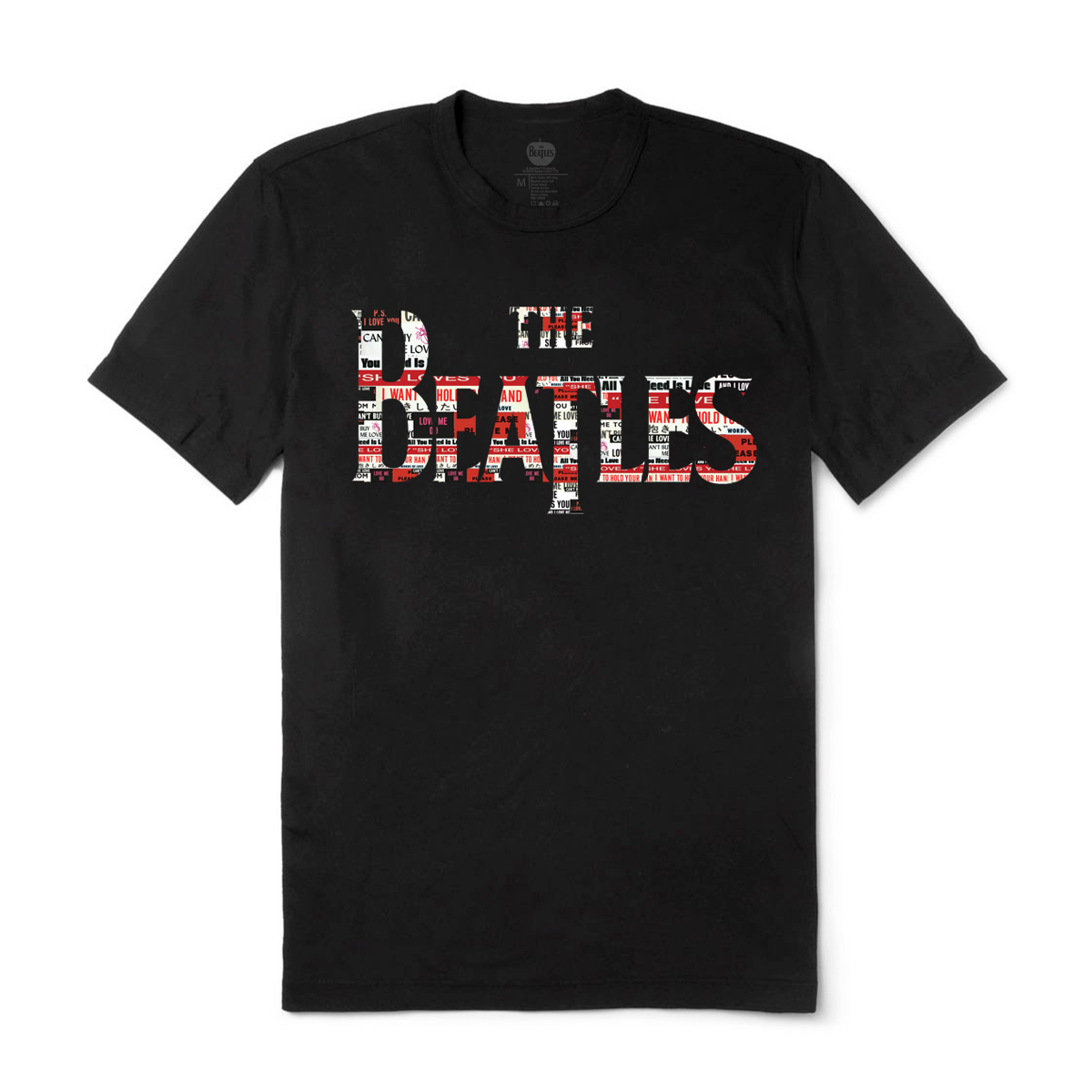 The Beatles Logo Love Songs Black T-Shirt