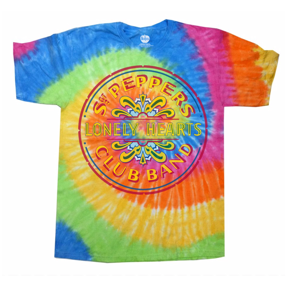 Sgt. Pepper's Lonely Hearts Club Band Rainbow Tie-Dye T-Shirt