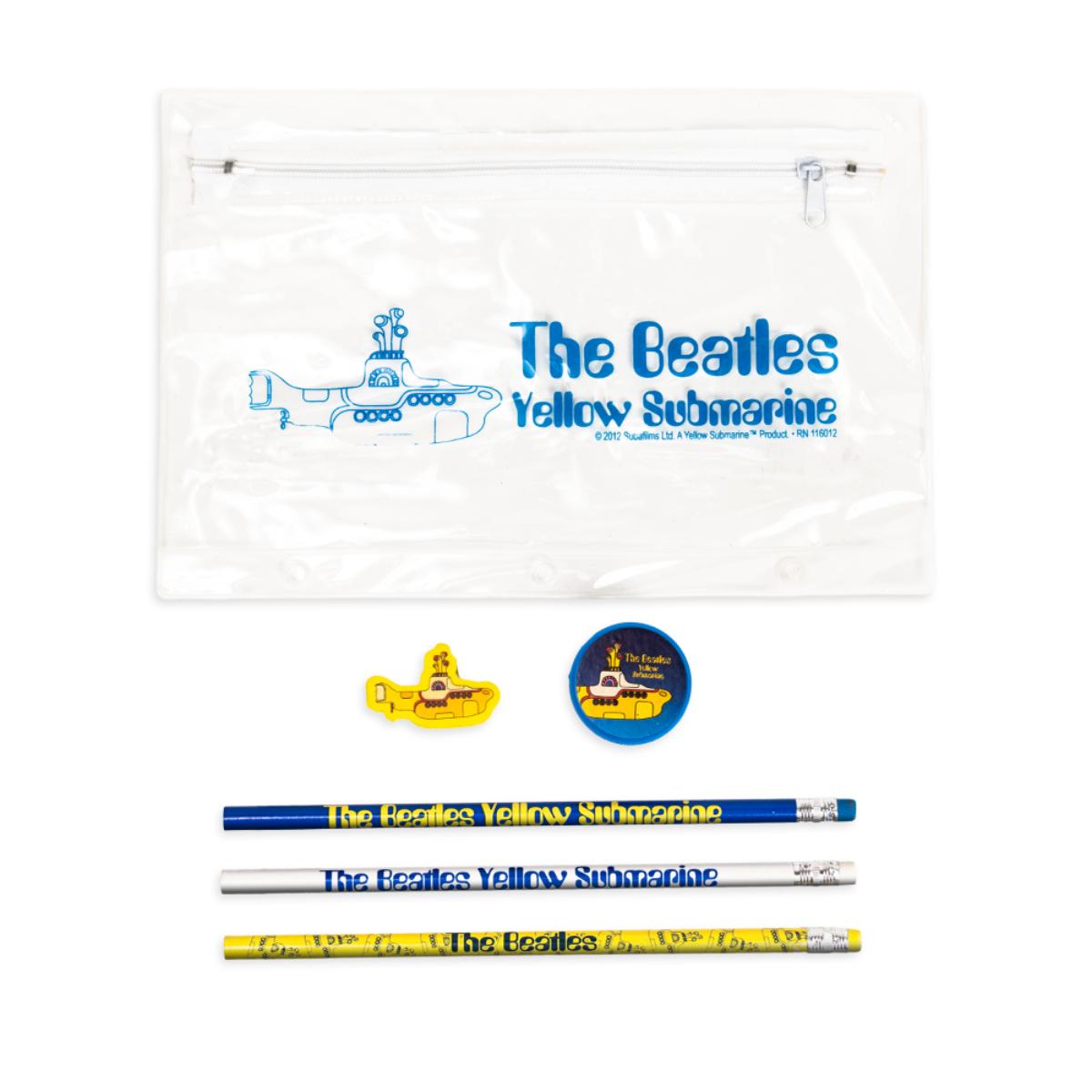 Yellow Submarine Pencil and Eraser Set