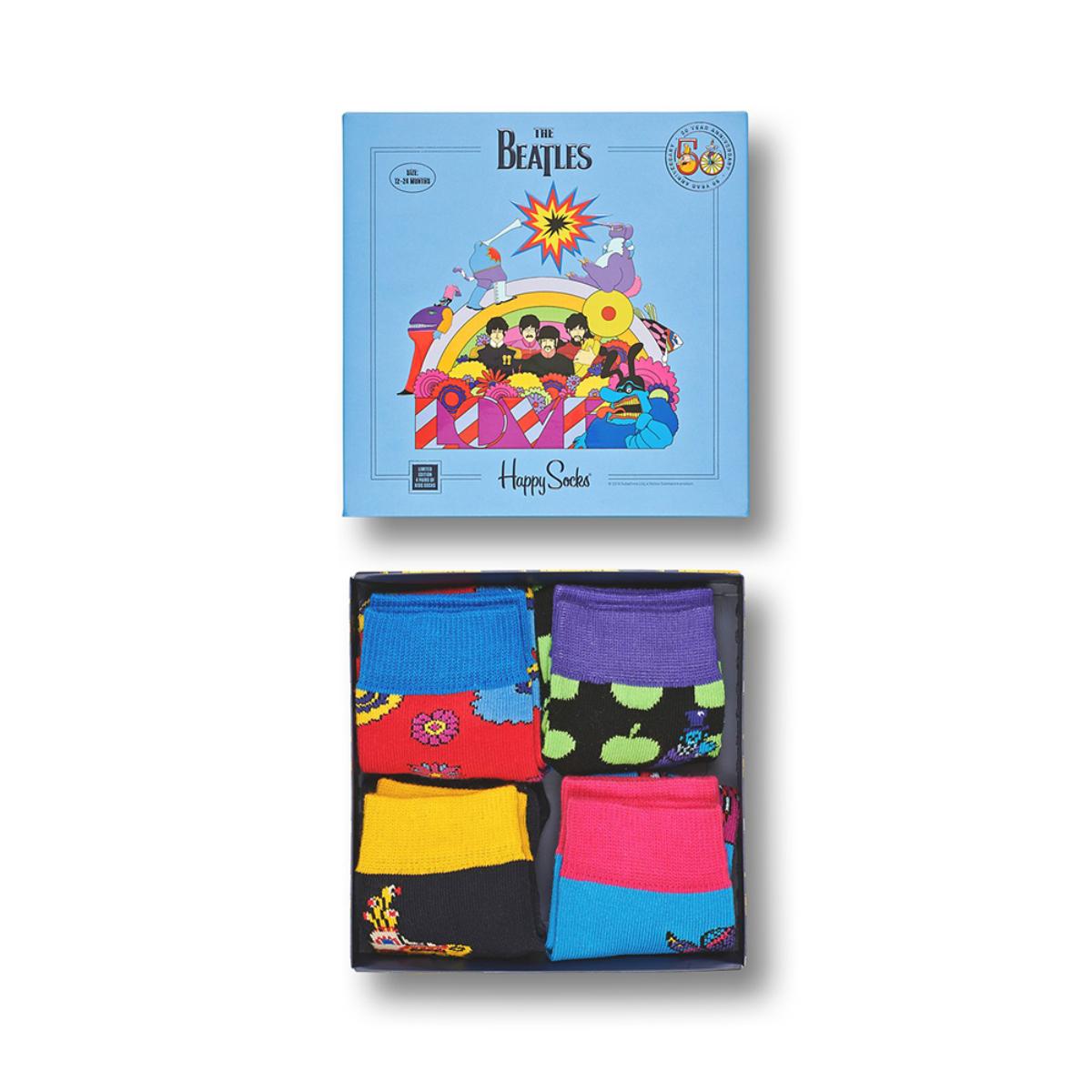 The Beatles Ladies Socks Yellow Submarine Blue