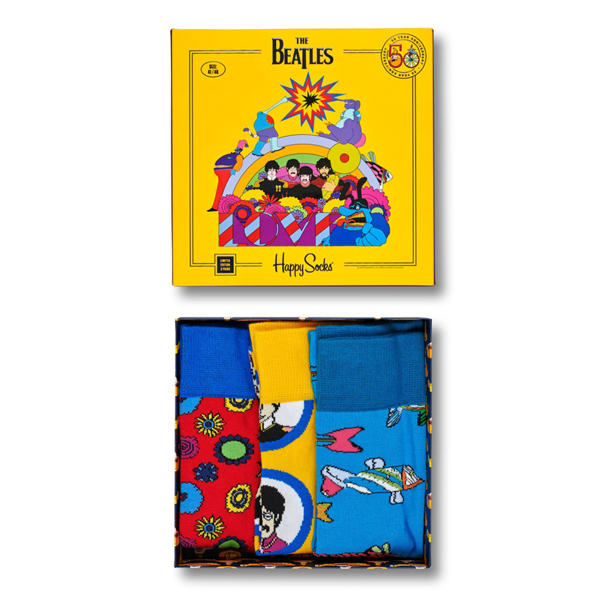 Happy Socks The Beatles Socks Box Set 3-Pack #2