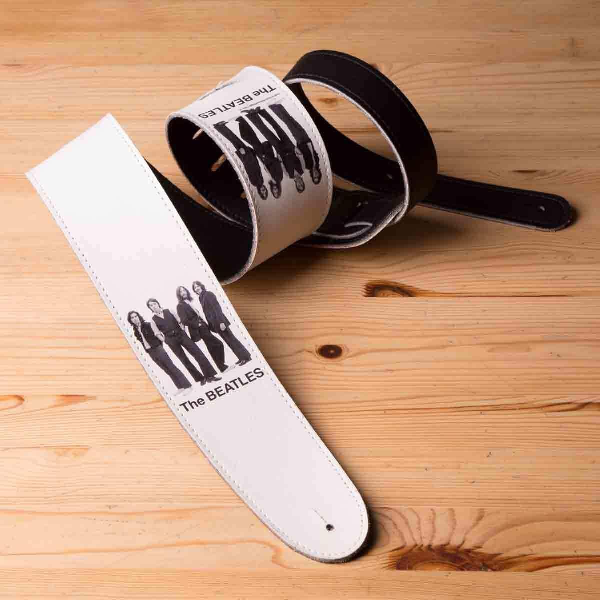 "White Album Photo 2.5"" Vinyl D'Addario Guitar Strap"
