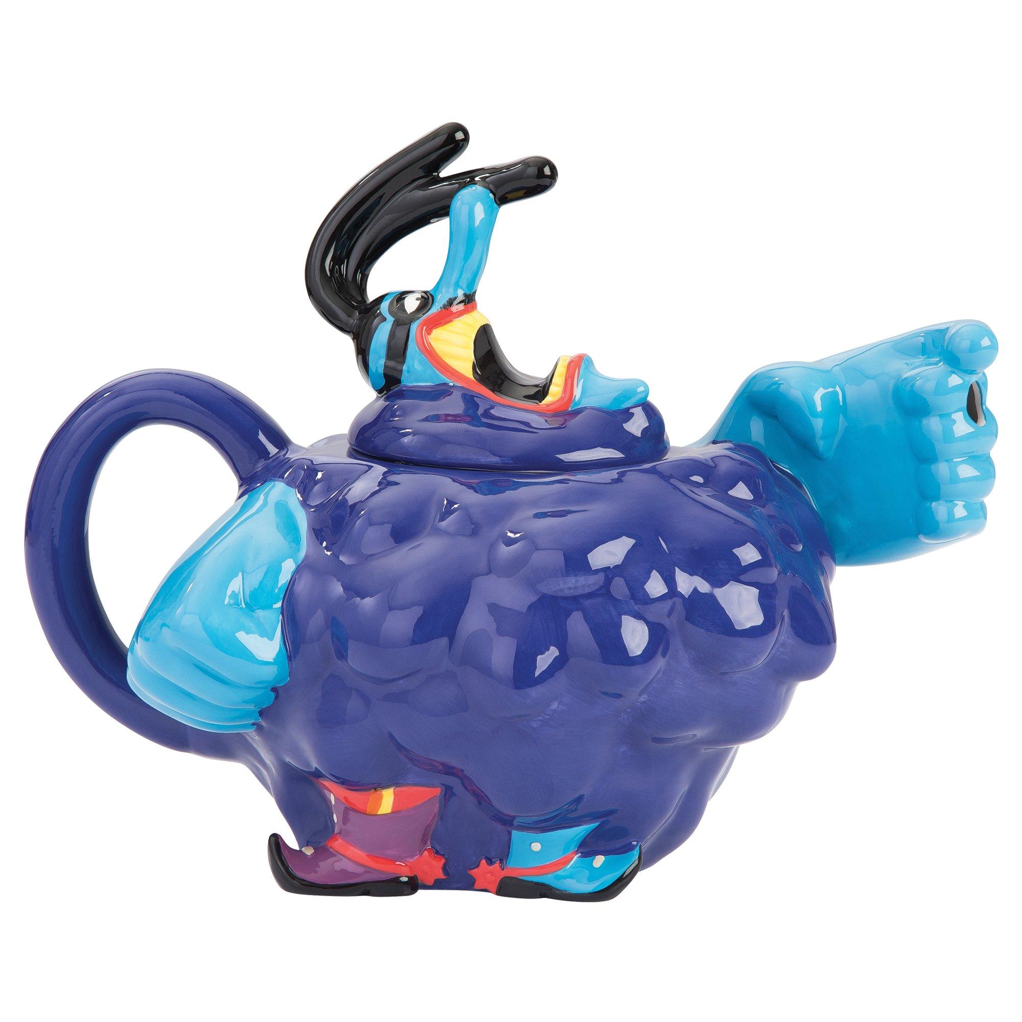 Yellow Submarine Blue Meanie Sculpted Tea Pot