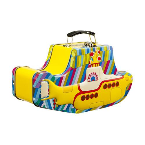 Yellow Submarine Embossed Tin Tote