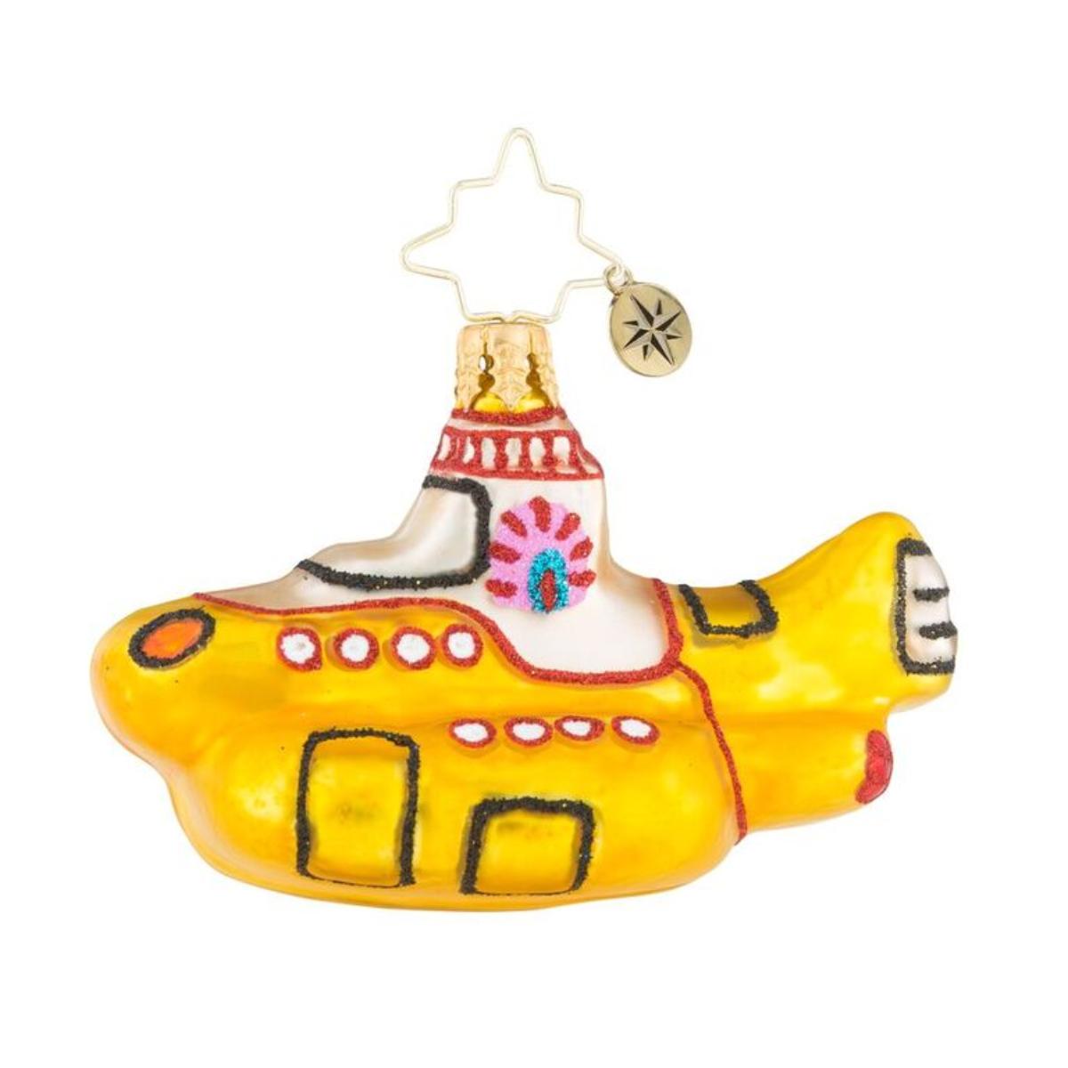 Yellow Sub Club Gem Ornament