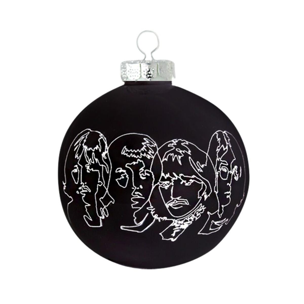 White Album Sketch Round Ornament