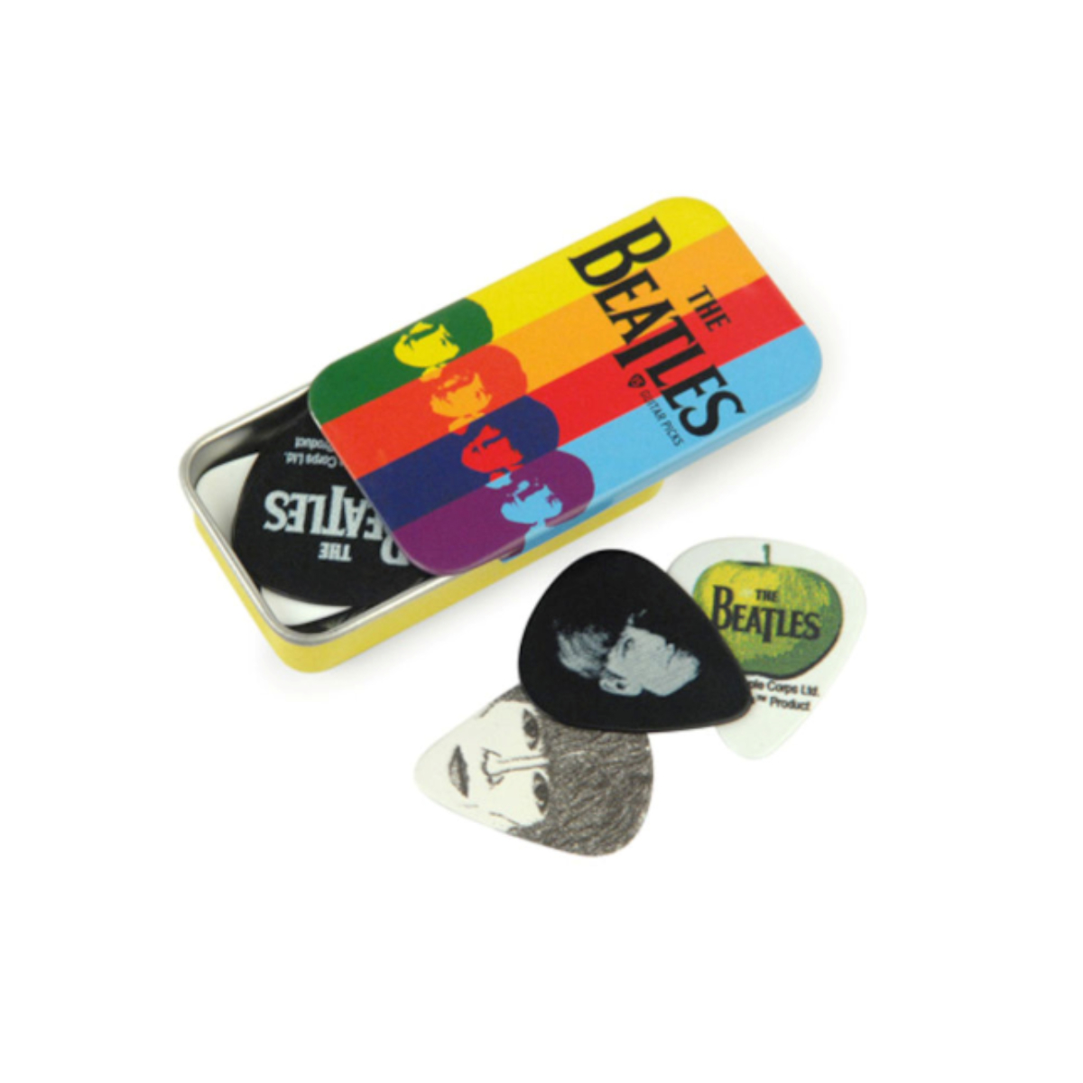 The Beatles Color Stripe D'Addario Pick Tin