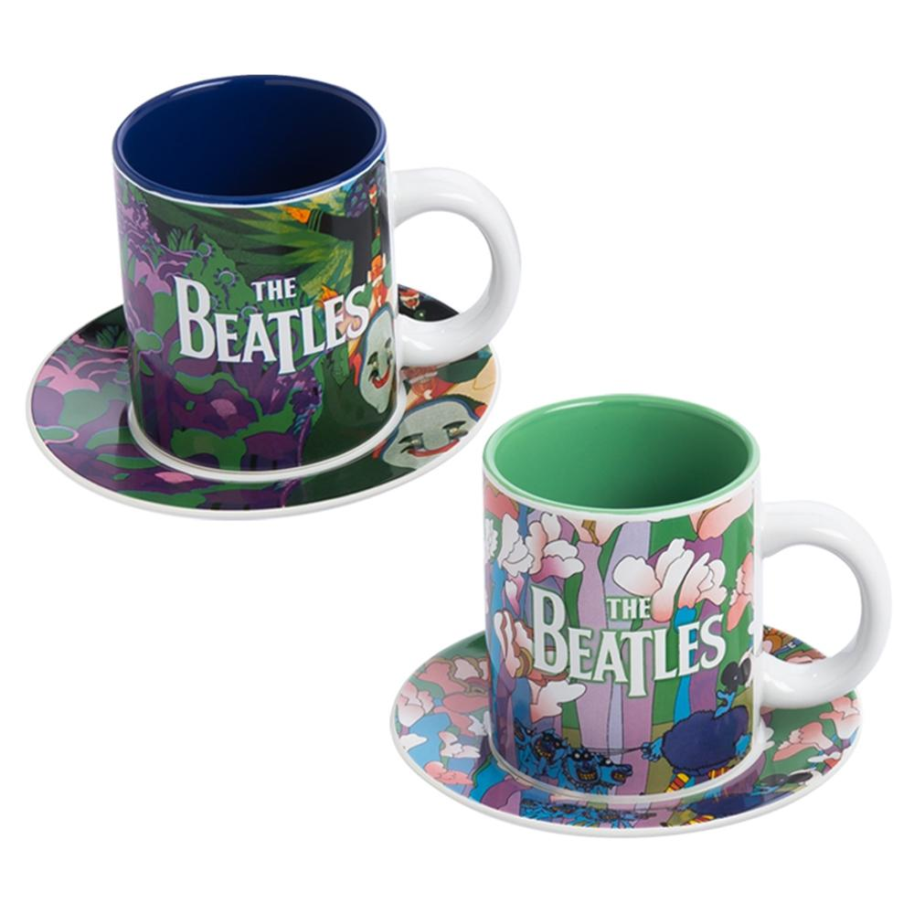 Yellow Submarine 4 pc. Cup & Saucer Set