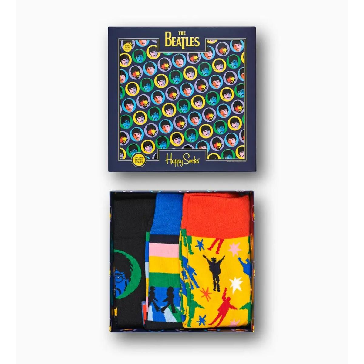 Happy Socks The Beatles Socks Box Set 3-Pack #1