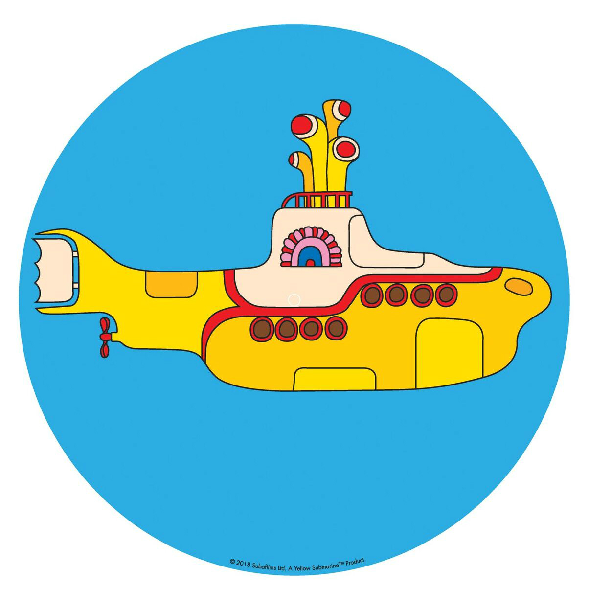 Yellow Submarine Slip Mat