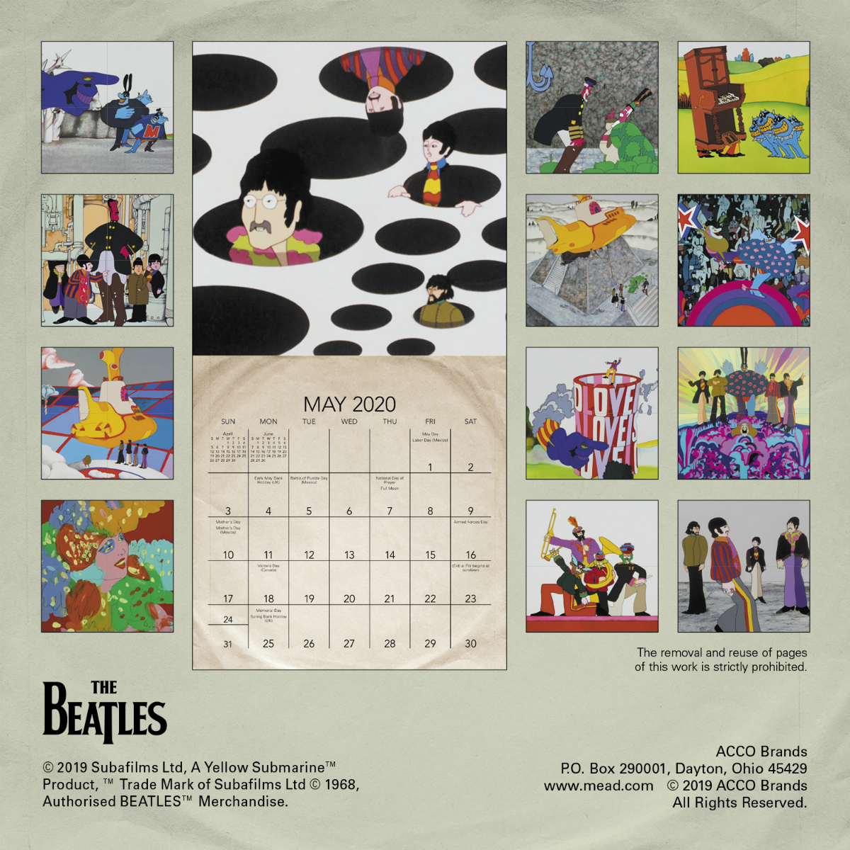 Yellow Submarine 2020 Wall Calendar