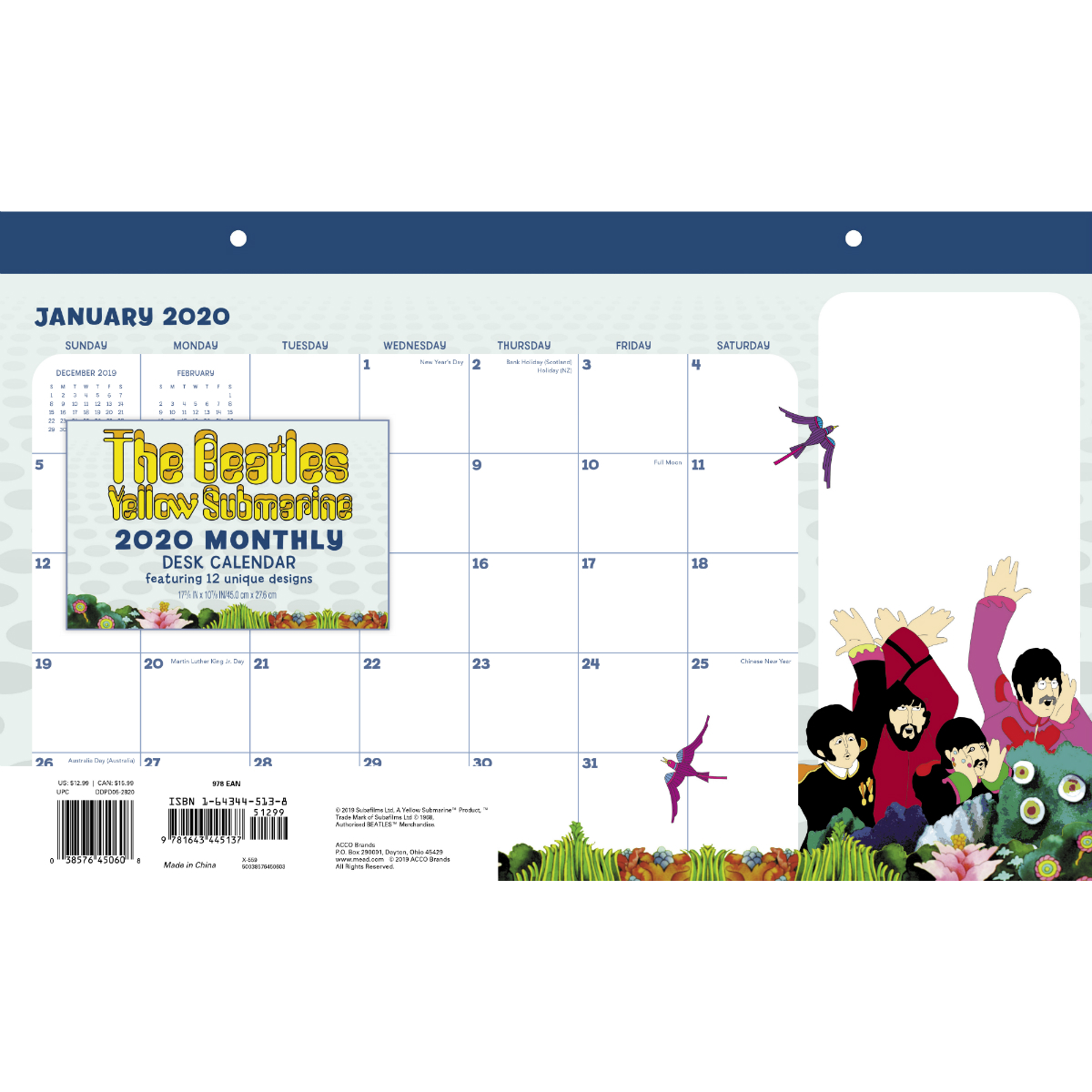 Yellow Submarine 2020 Desk Calendar