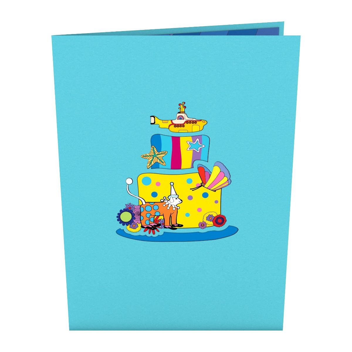 Yellow Submarine Birthday Cake LovePop Card
