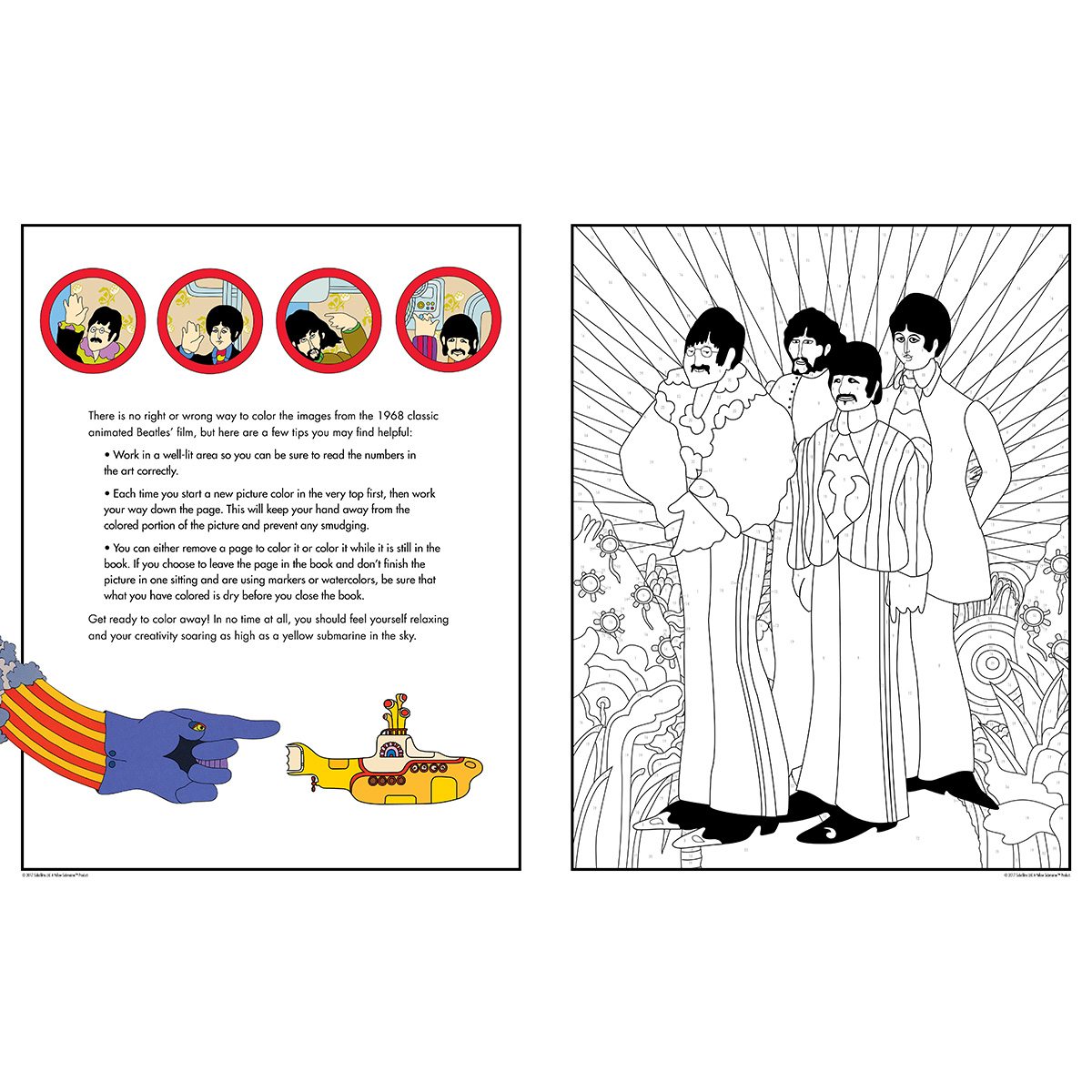 The Beatles Yellow Submarine Colour by Numbers: All You Need Is Colour!