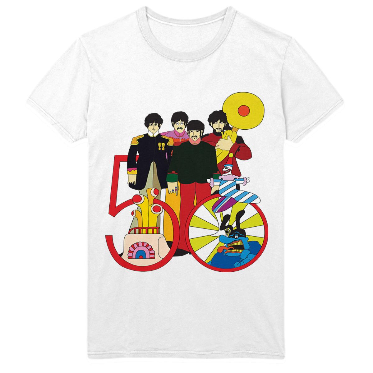 Yellow Submarine 50th Anniversary White T-Shirt