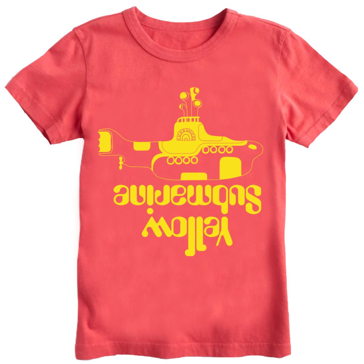 Yellow Sub Crew Cuts Kid's T-Shirt