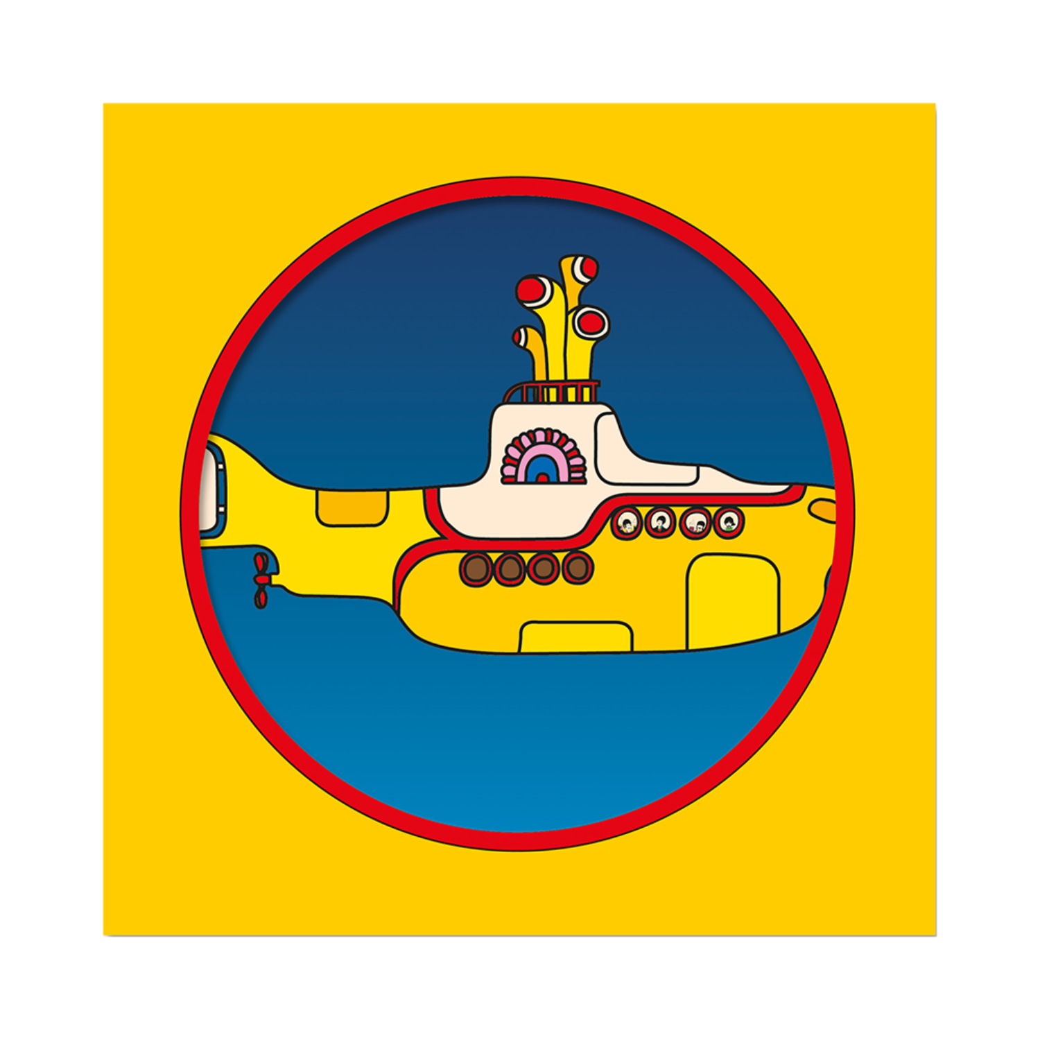 """Limited Edition Yellow Submarine 50th Anniversary 7"""" Picture Disc"""