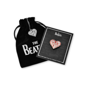All You Need Is Love Necklace & Enamel Pin Set