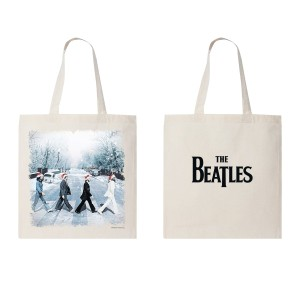 Snowy Abbey Road Tote Bag