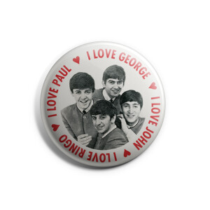 I Love The Beatles Pin