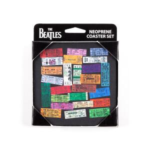 Beatles Tickets Neoprene Coaster