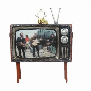 Beatles Up on the Roof TV Ornament