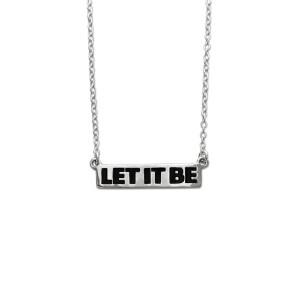 Let It Be- Women's Bar Necklace & Pin Set