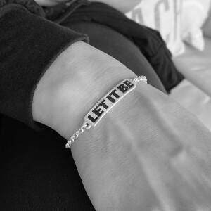 Let It Be Women's ID Bracelet & Pin Set