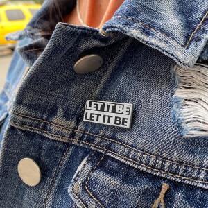Let It Be Unisex Necklace & Pin Set