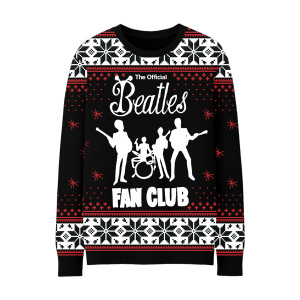 Official Beatles Fan Club Ugly Christmas Sweater
