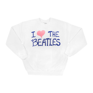 I Love The Beatles Fan Sign White Crewneck