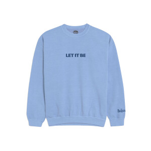 Let It Be Embroidered Blue Crewneck