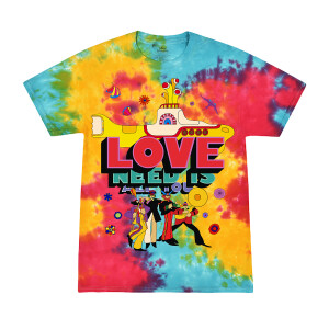 All You Need is Love & The Yellow Sub Tie-Dye T-Shirt