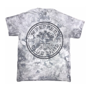 Sgt. Pepper's Lonely Hearts Club Band Grey Tie-Dye T-Shirt