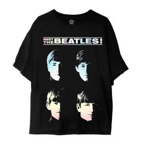Meet The Beatles! Black T-Shirt