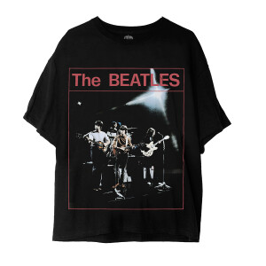 The Beatles On Stage Photo Black T-Shirt
