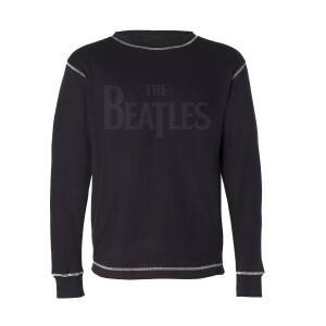 The Beatles Logo Thermal Black Long-Sleeve T-Shirt