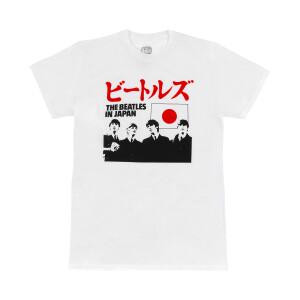 The Beatles In Japan Flag White T-Shirt