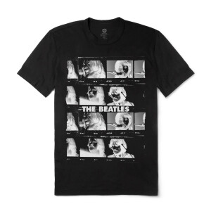 The Beatles Let It Be Contact Sheet Black T-Shirt
