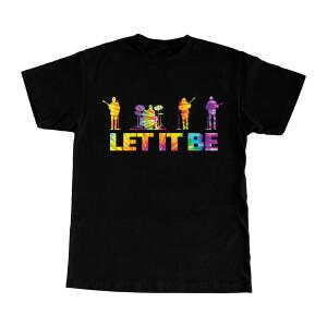 Let It Be Tie-Dye Fill Black T-Shirt