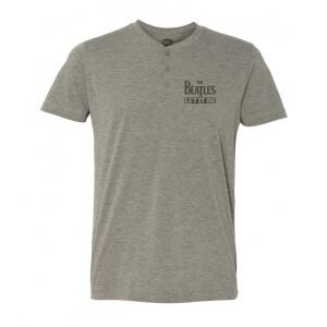Let It Be Grey Short-Sleeve Henley Shirt
