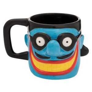 Meanie Face Sculpted Ceramic Mug